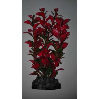 Растение пластиковое Людвигия 20см красно-зеленое