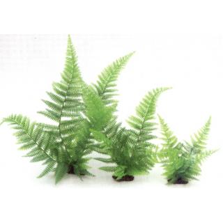 Растение пластиковое Папоротник, 20см, зеленое