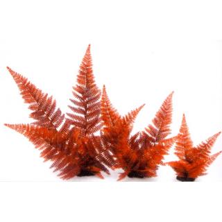 Растение пластиковое Папоротник, 20см, красное