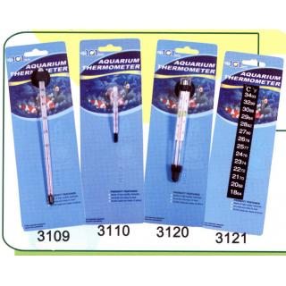 Термометр стеклянный малый на присоске, тонкий (3110)