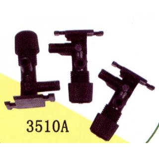 Краник воздушный пластиковый черный (3шт)