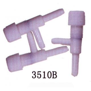 Краник воздушный пластиковый белый (3шт)