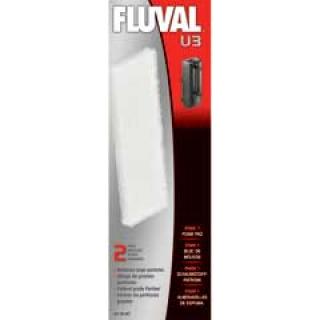 Губка для фильтра  Fluval U3 (2шт) 60х195х15мм