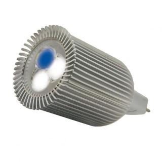 Лампа LED aquasunspot 3х3 14000К цоколь MR16, 12Вольт/9 Ватт