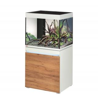 Комплект аквариум с тумбой EHEIM incpiria 230 белый, фасады сосна (декоративная LED подсветка тумбы)