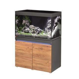 Комплект аквариум с тумбой EHEIM incpiria 330 графит, фасады сосна (декоративная LED подсветка тумбы)