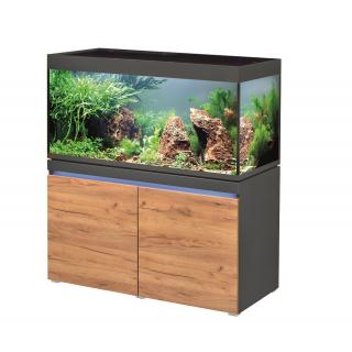 Комплект аквариум с тумбой EHEIM incpiria 430 графит, фасады сосна (декоративная LED подсветка тумбы)