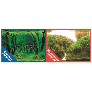 Фон двухсторонний с одной самоклеящейся стороной Коряги с растениями/Растительные холмы 30x60см 9084/9085+