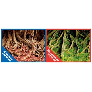 Фон двухсторонний с одной самоклеящейся стороной Корни с мохом/Корни с листьями 30x60см 8009+/8010