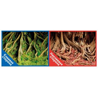 Фон двухсторонний с одной самоклеящейся стороной Корни с мохом/Корни с листьями 30x60см 8009/8010+