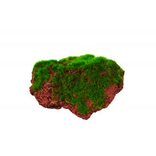 Декорация пластиковая PRIME Камень с мхом малый 9х6.5х5см