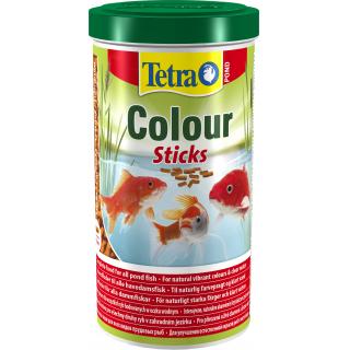 Pond ColorSticks 1л, корм для прудовых рыб, гранулы для основного питания