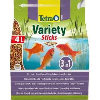 Корм для прудовых рыб Tetra Pond Variety Sticks 600гр/4л смесь палочки