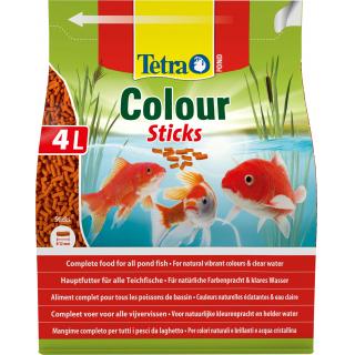 Pond ColorSticks 4л, корм для прудовых рыб, гранулы для основного питания