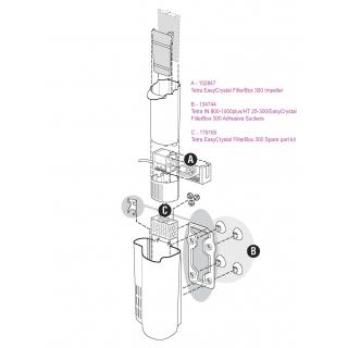 Рем.комплект для фильтра EasyCrystal FilterBox 300