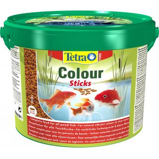 Pond ColorSticks 10л, корм для прудовых рыб, гранулы для основного питания