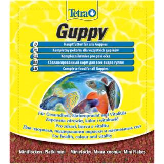TetraGuppy  12гр пакет мини-хлопья
